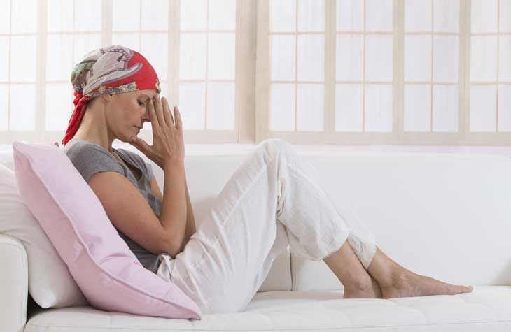 woman with bladder cancer sitting