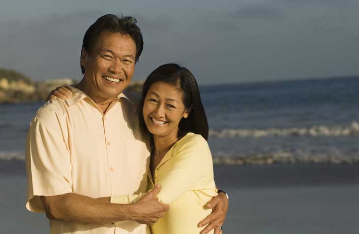 a man with erectile dysfunction (ed) with his wife