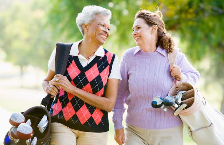 women who have a urinary tract infection (UTI) walking
